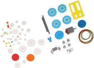 Homyl 50 Tipi Kit Di Ingranaggio Telaio Automobili Fai Da Te 2mm Blu