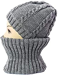 Oudan Moda Maglia Uomo Cappello Collare e Modelli Donna Autunno e Inverno  più Caldo Cashmere Sciarpa di Lana Cappello Due Set 88c7f82c968b