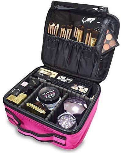Professionelle Kosmetische Fälle (WYLYD Make-up Tasche, Make-up Reisetasche, professionelle Make-up Veranstalter Fall, multifunktionale kosmetische Aufbewahrungsbox (rot))
