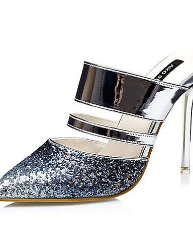 WSS 2016 Chaussures Femme-Décontracté-Bleu / Violet / Rouge / Or-Talon Aiguille-Talons-Talons-Synthétique blue-us5.5 / eu36 / uk3.5 / cn35