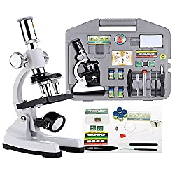 30 Piece 100-1200x Discovery Biological Microscope Advanced Science Set Kit Case