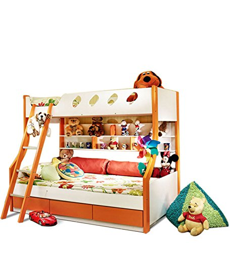 Hometown Deccan Bunk Bed (Matt Finish, Orange)