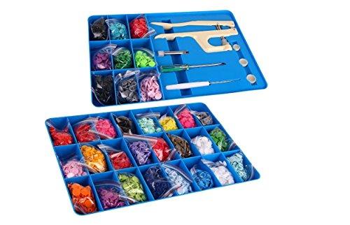 Preisvergleich Produktbild BabySnaps Koffer Mit BabySnap Snaps, Zange Und Werkzeug 660 Snaps Zertifiziert Nach Oeko-Tex® Standard 100, Zertifikatnummer: 15.0.69299