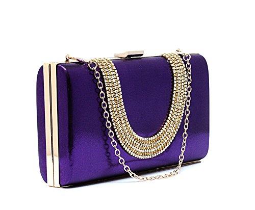 borse da sera con strass/Air frizione/Di alta qualità per banchetti/sacchetto della sposa della moda/Diamante borsa a mano femminile-D C
