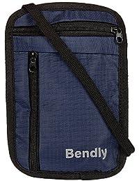 Bendly Travel Neck Stash Wallet, Easy Strings B2