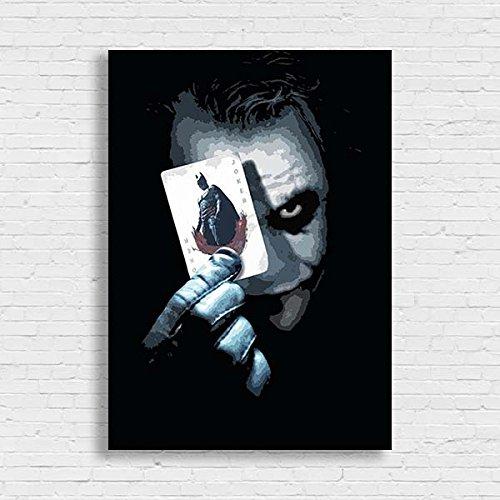 The Joker Batman Movie Film Comic Poster Black White Framed Print