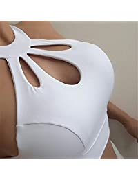 Comfort Bra Mujeres Niñas Sujetador de Yoga Negro Slim Slim Vest Sports Fitness para Mujeres Sujetador Sleep In Yoga (Color : Blanco, tamaño : L)