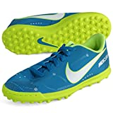 Nike JR MercurialX VRTX III NJR TF Fußball Schuhe–Neymar Jr, Unisex–Kinder, blau–(blau Orbit/blau Orbit-Armory Marineblau)