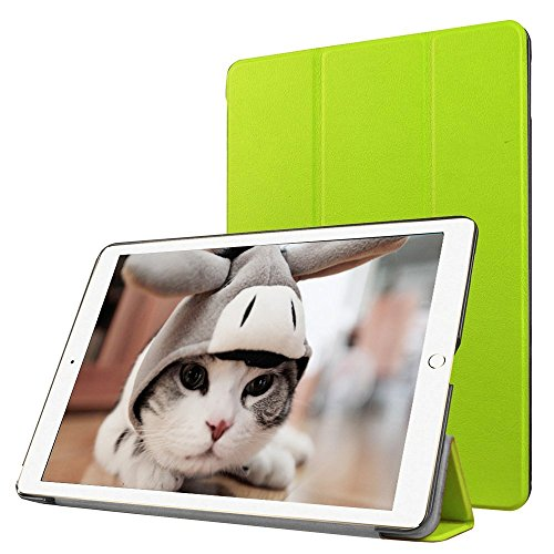 Preisvergleich Produktbild Apple iPad Pro 9.7 Fallabdeckung , TechCode iPad Pro Design Schein-Glitter-Leder-intelligente Kasten-Abdeckung mit Standplatz -Abdeckung PU-Leder-Kasten mit Standplatz -Abdeckung Executive-Multi-Funktions-Leder-Standby-Gehäuse mit eingebauter Magnet für Sleep & Awake Funktion für Apple iPad Pro 9.7(iPad Pro 9.7, grün)