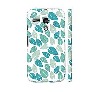 Colorpur Light Green Geometric Leaf Pattern Designer Mobile Phone Case Back Cover For Motorola Moto G1 | Artist: Designer Chennai