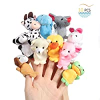Twister.CK Finger Puppets, Baby Story Time Props, Hand Puppets Set Animal Style Soft Velvet Dolls Props Educational Toys Baby Toddlers