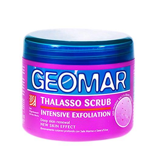 Geomar Thalasso Scrub Intensive Exfoliation 600g mit Traubenkernen Körperpflege - enthält nur natürliche Inhaltsstoffe - Peeling Körperpeeling - weich, strahlend und glatt -