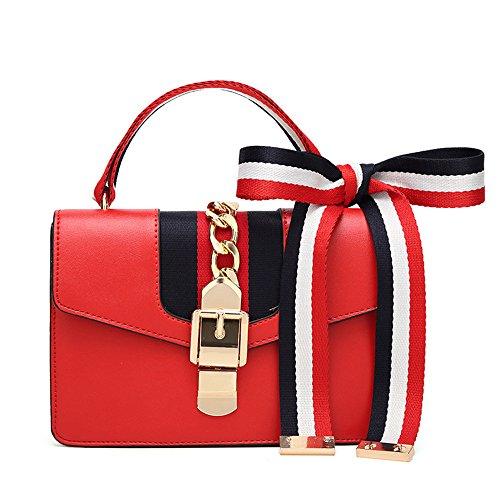 JUND Sommer Neu Mode Henkel Klein Platz Tasche Damen Elegant Kette Umhängetasche Schal Lässig Messenger Bag -
