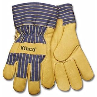 KINCO INTERNATIONAL - Large Men's Grain Pigskin Leather Palm Gloves