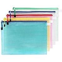 10× kentop A3para documentos con cremallera bolsa–Carpeta archivador carpeta archivadora (funda PVC resistente al agua color al azar