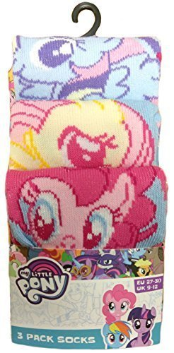 Hasbro i miei calzini di cotone little pony ragazze 3pk (23-25)