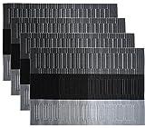 4er Set Platzdeckchen PVC 45 x 30 cm Hitzebeständig Platzmatten Abwaschbar und Rutschfest Tischsets