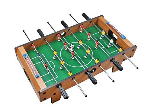 Iso Trade Tischkicker mit Füßen 69x37x23cm Aufstellen 18 Spieler Toranzeige Schieber 2 Bälle #1564 (Mini Tisch Kicker)