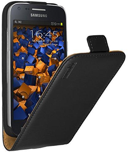 mumbi PREMIUM Leder Flip Case für Samsung Galaxy Core Plus Tasche (NICHT für Core Duos)