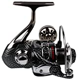 Sougayilang Carrete de pesca de metal Rodamiento doble liviano y suave Lanzamiento de línea 5.2: 1mango plegable Carretes giratorios, DE3000