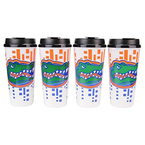 Whirley Drink Funktioniert NCAA 907Digital Großes Heckklappe Cups w/Deckel 4er Pack, Florida Gators -