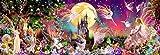Fototapete Kindertapete FAIRYLAND, 366 x 127 cm, Fantasie, Elfen Feen bunt, 4-teilig