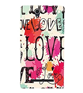 printtech Love Back Case Cover for Sony Xperia C3 Dual D2502::Sony Xperia C3 D2533