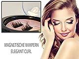 Magnetische Wimpern, künstliche Wimpern,Wiederverwendbar, Ultradünn, Ein Paar Magnet Wimpern ohne Kleber,Magnetic Eyelashes - Elegant Curl