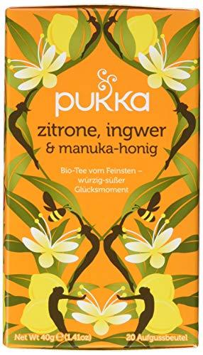 Pukka Bio-Tee Zitrone, Ingwer & Manuka-Honig, 80 Teebeutel, 4er Pack (4 x 20 Stück) - Manuka-honig Süßen