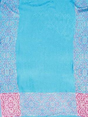 Weavers Villa Women's Soft Viscose Shawls, Scarf, Stoles (Blue, Medium)