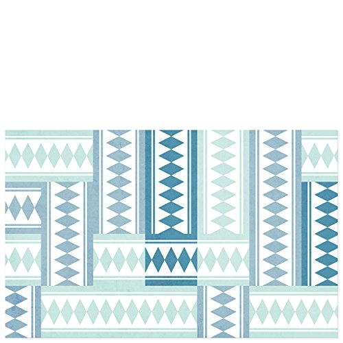Laroom Alfombra, Vinylic Flooring PVC-Antislip, Turquesa