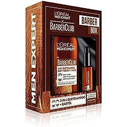 L'Oreal Men Expert Barber Club Box mit 3-in-1 Barber Club Bartshampoo (200 ml) und Bartöl (30 ml)