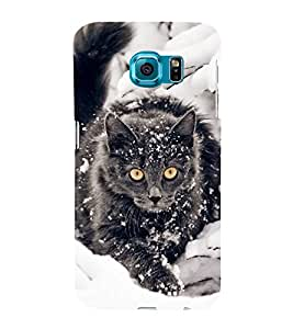 FUSON Wild Cat Angry Scottish 3D Hard Polycarbonate Designer Back Case Cover for Samsung Galaxy S6 Edge+ :: Samsung Galaxy S6 Edge Plus :: Samsung Galaxy S6 Edge+ G928G :: Samsung Galaxy S6 Edge+ G928F G928T G928A G928I