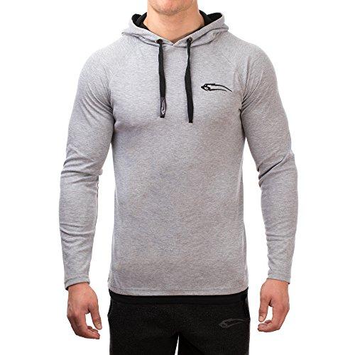 83e897c41d SMILODOX Slim Fit Kapuzenpullover Herren | Hoodie für Sport Fitness &  Freizeit | Sportpullover - Sweatshirt