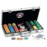 Juego Pro Team - Texas Hold'em Pokerkoffer I Poker Chip Koffer I Poker Set I Inkl. Pokerkarten, Dealer, Timer und 300 Poker Chips - Aluminium