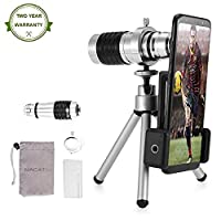 Monocular Telescope,NACATIN 12X HD Dual Focus Optics Waterproof Monocular Day & Night Vision with Tripod For Birds/Wildlife/Hunting/Camping/Hiking/Tourism/Armoring/Live Concert 1000M