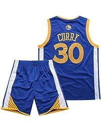 BUY-TO Warriors 30 Curry Jersey Pantalones Cortos de la NBA Traje de  Uniforme de… 1ddf3e6ea13
