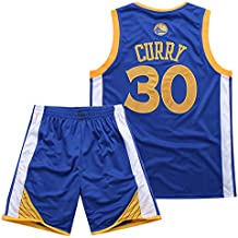 BUY-TO Warriors 30 Curry Jersey Pantalones Cortos de la NBA Traje de Uniforme de