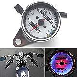 EMOTREE 12V Motorrad Tacho Kilometerzähler Tachometer LED Kontrollleuchten Signallicht