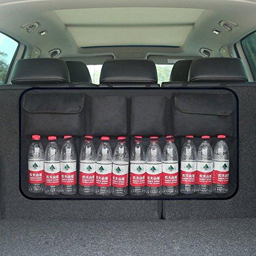 Borse per bagagliaio, organizer auto sedile posteriore organizer bagagliaio organizer sedile posteriore multi-tasca rete borse di stoccaggio per auto o suv