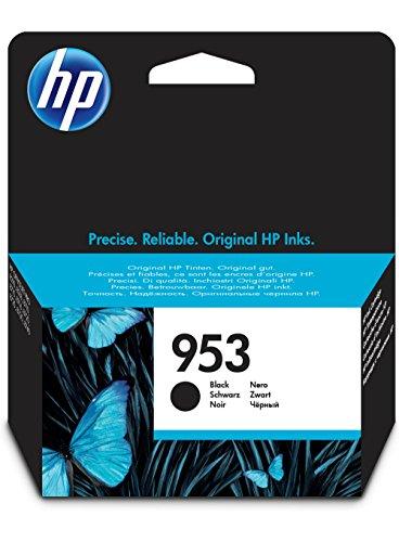HP 953 - Cartucho de tinta para impresoras (estándar, compatible con OfficeJet Pro 8210/8218/8710 AiO/8715 AiO), negro
