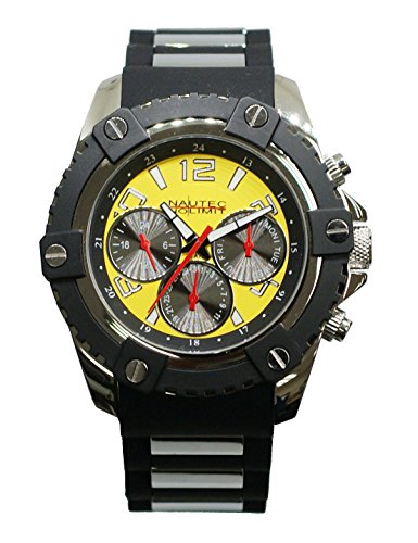 Nautec No Limit Men's Watch Glacier 2 Analogue Quartz Rubber GLAC2/qz/rbst/YL