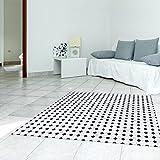 CXQWAN Boden-Sticker Schwarz-Weiß-Mosaik Umweltschutz Wasserdicht Rutschfest PVC Abnehmbar Selbstklebende Aufkleber