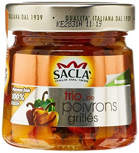 Sacla Sauce Trio de Poivrons Grillés 190 g - Lot de 3