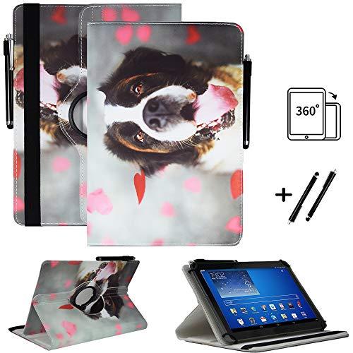 Tablet 10.1 Zoll Hülle für Jumper EZpad 7 Schutzhülle Etui Case mit Touch Pen & Standfunktion - Hund 7 360 -