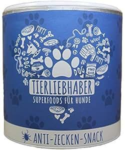 TIERLIEBHABER Anti-Zecken-Snack (350g) / natürlicher Zecken-Schutz für Hunde / SUPERFOOD aus Lavendel und Schwarzkümmel-Öl gegen Zecken und Flöhe / REIN NATÜRLICH