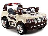 BSD Elektro Kinderauto Elektrisch Ride On Kinderfahrzeug Elektroauto Fernbedienung - SUV Land 2-Sitzer - Creme Farben