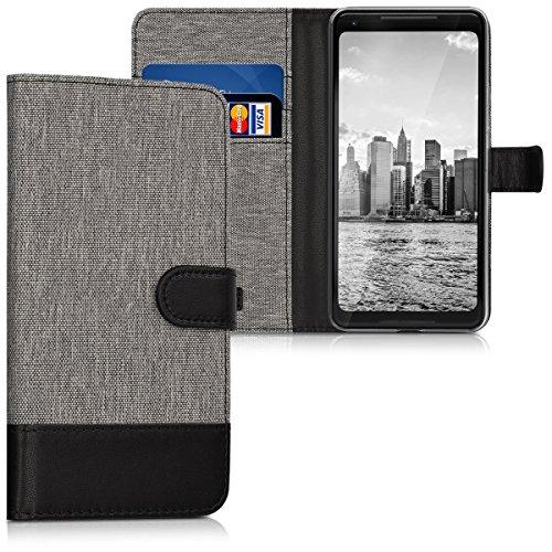 kwmobile Google Pixel 2 XL Hülle - Kunstleder Wallet Case für Google Pixel 2 XL mit Kartenfächern und Stand