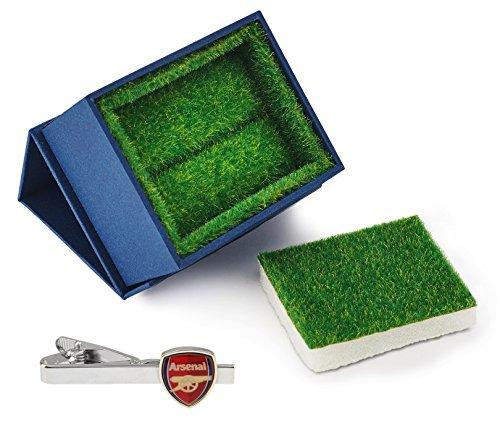 Arsenal Football Club Logo Tie Clip mit Gras wie Geschenk-Box-Krawatte Bar