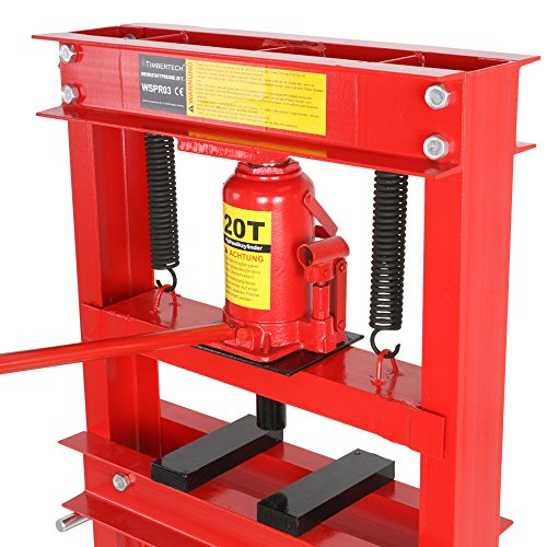 Pressa manuale idraulica officina 20 t altezza regolabile for Pressa idraulica manuale